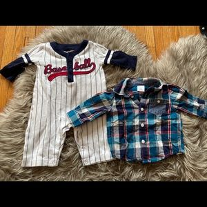 Gymboree two pieces. Baseball ⚾️ one piece.